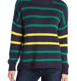 525 America 525 America Stripe Drop Shoulder Pullover Sweater Size L