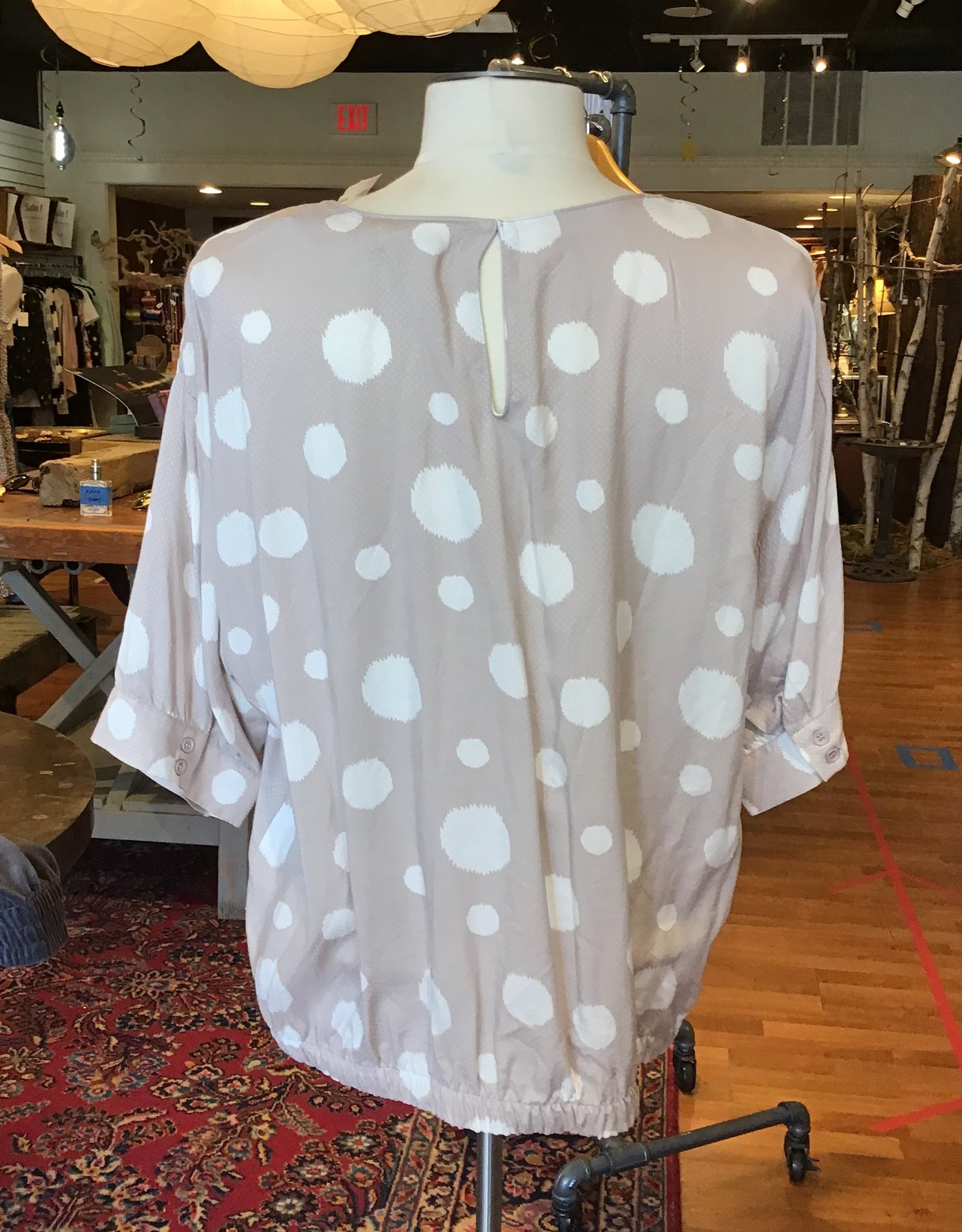 Melloday Melloday Elbow Sleeve Tie Hem Blouse Sz L