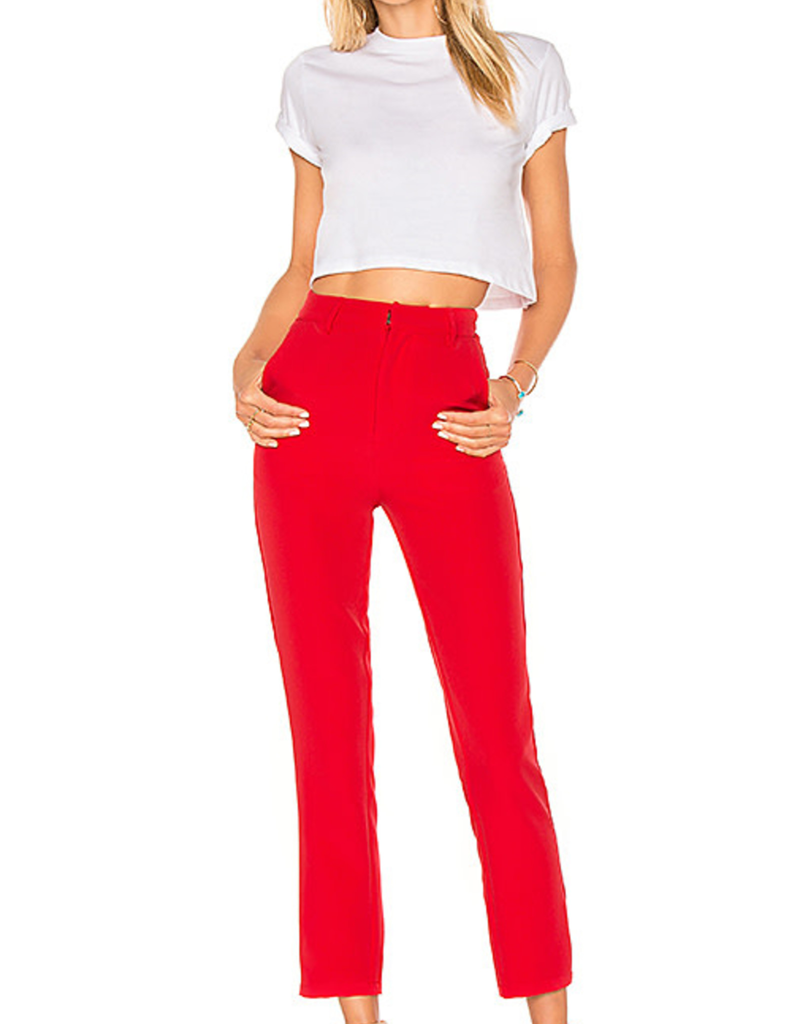 Lovers+Friends Lovers+Friends Tempo Skinny Pants Red Sz L