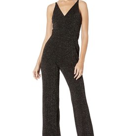 Donna Morgan Donna Morgan Stretch Metallic Deep-V Jumpsuit Sz 6