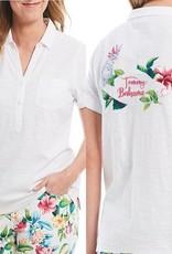 Tommy Bahama Tommy Bahama Tahitian Tweets Embroidered Polo Sz M