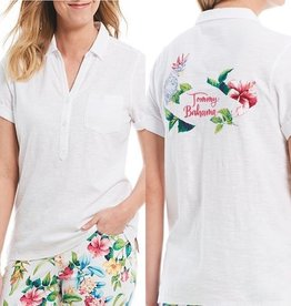 Tommy Bahama Tommy Bahama Tahitian Tweets Embroidered Polo Sz M