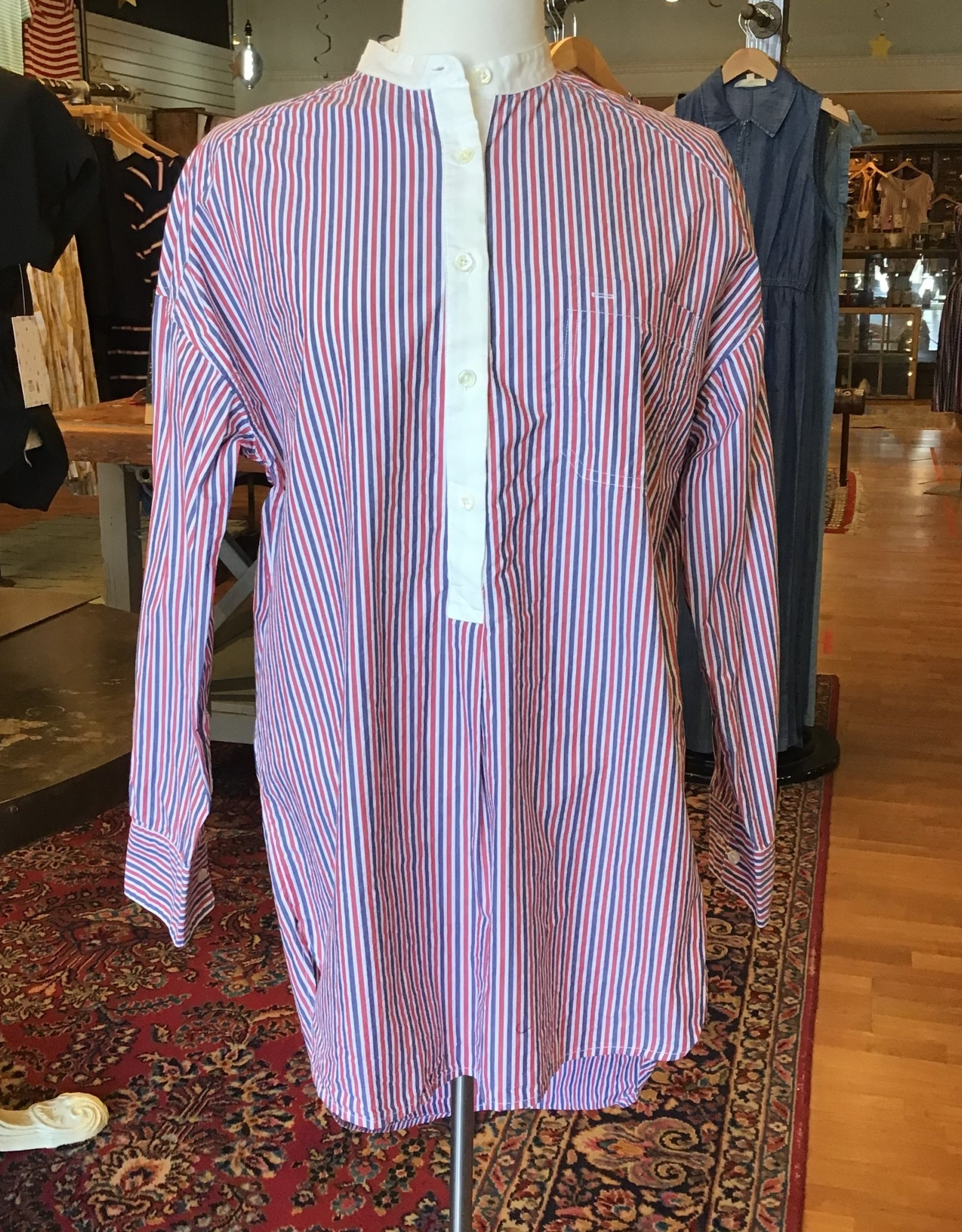 Alex Mills Alex Mill Multistripe Shirttail Tunic Sz S