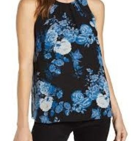 Vince Camuto Vince Camuto Cabbage Rose Toile Sleeveless Chiffon Top Sz PXS