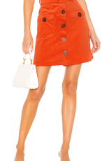 The East Order Orange Corduroy Skirt