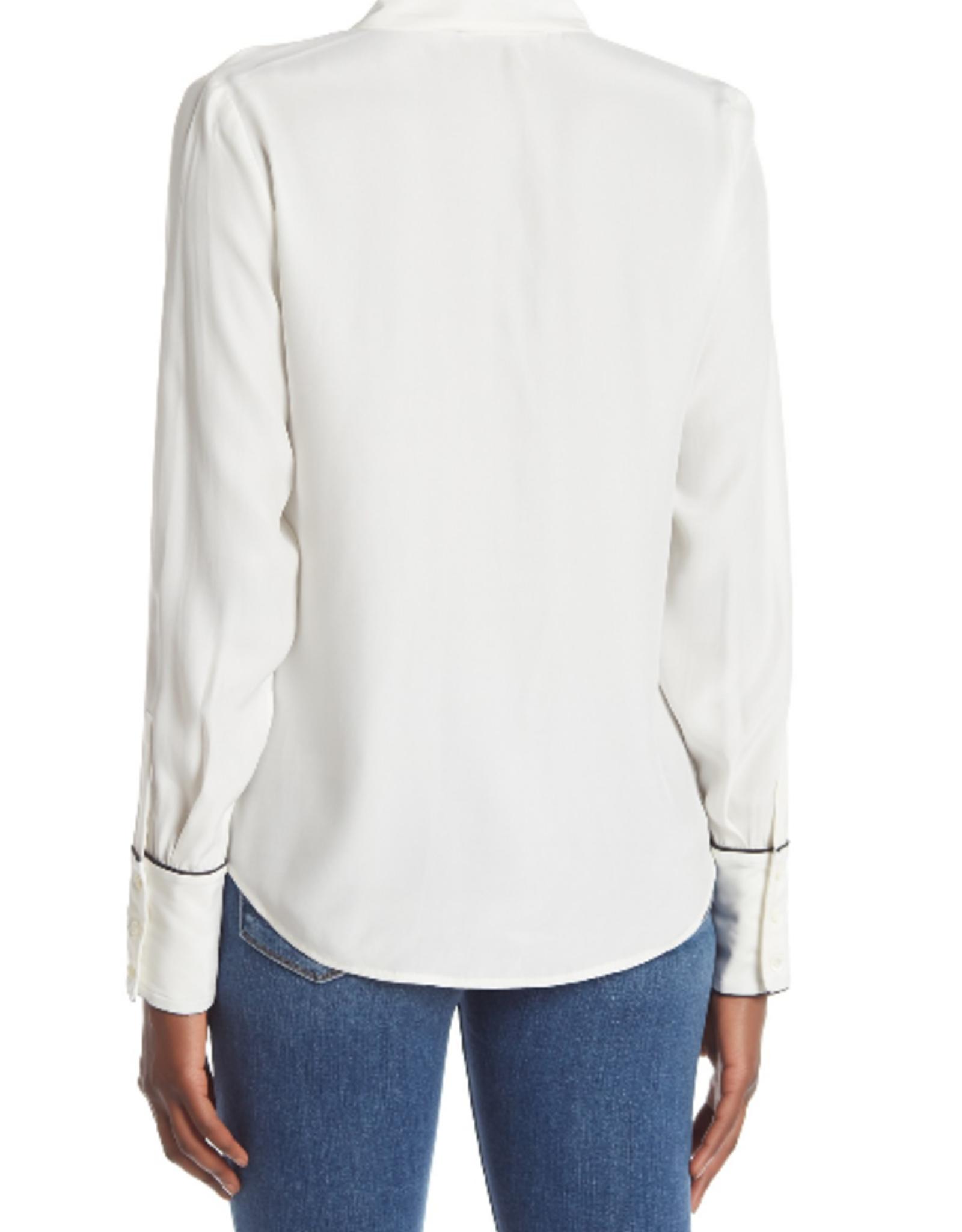 Frame Frame Pajama Inspired Piping Top