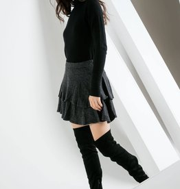 THML Layered Rib Knit Skirt
