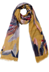 Janice Apparel Feathers Printed Oblong Scarf