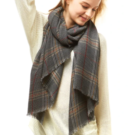 LOF Plaid Oblong Scarf