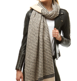 LOF Striped Boucle Oblong Scarf