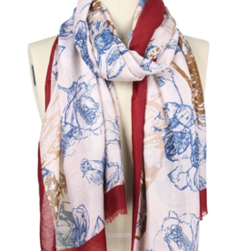 LIB Abstract Flower Print Scarf