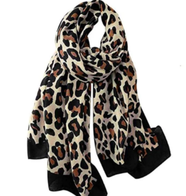Leopard Pattern Over-Sized Scarf