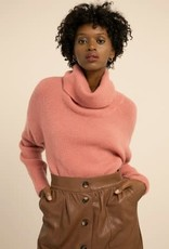 FRNCH NAHOUEL Pink Turtleneck