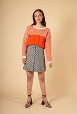 FRNCH NIMA  Orange Striped Sweater from FRNCH