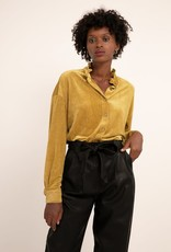 FRNCH Clio Button Up Ruffle Collar Top from FRNCH