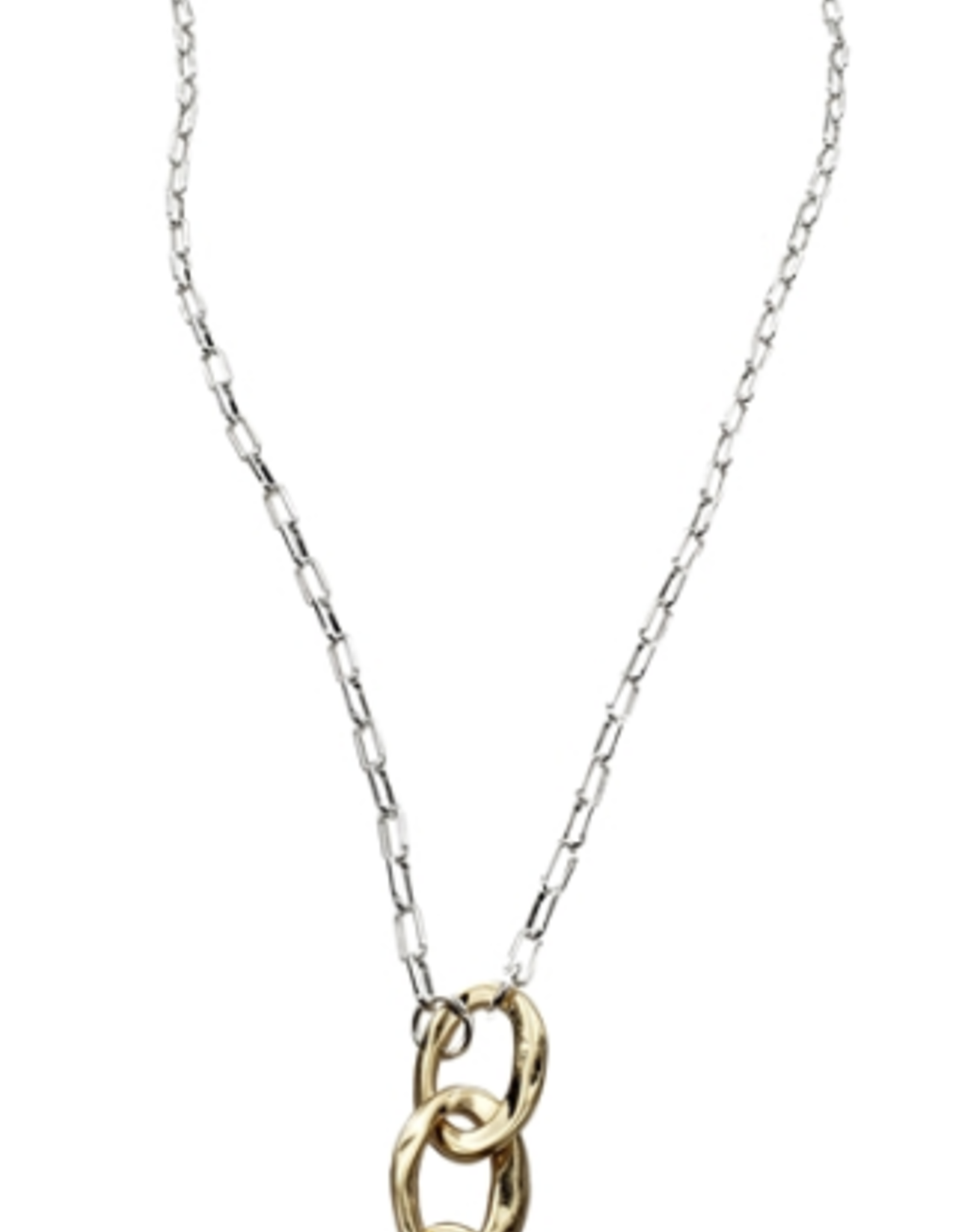 Sweet Lola 2 Tone Fresh Water Pearl Drop Necklace