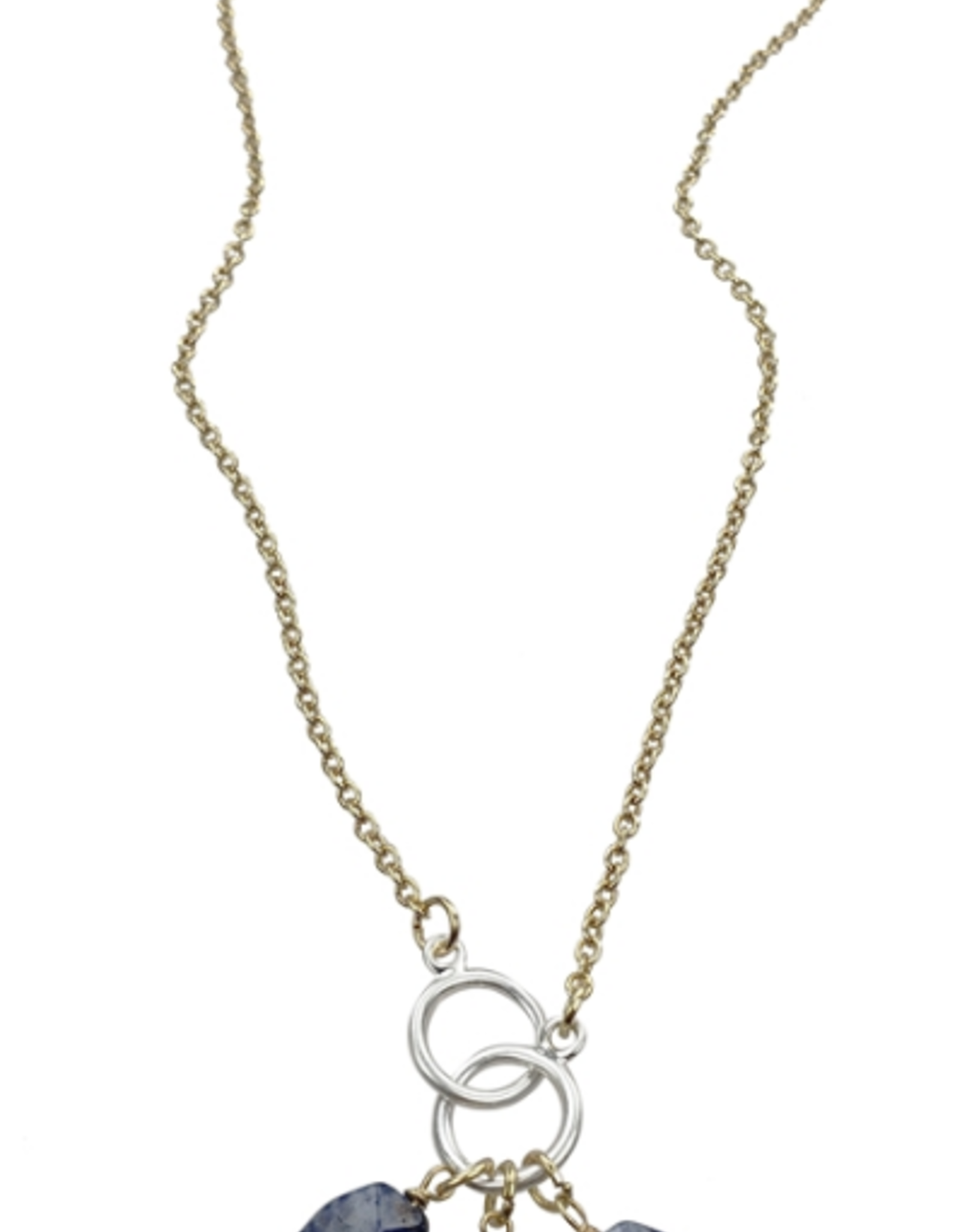 Sweet Lola Blue Gemstone Drop Necklace