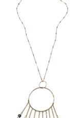 Sweet Lola Blue Gemstone Drops Necklace