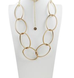 Sweet Lola Gold & Tan Large Chain Necklace