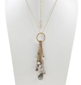 Sweet Lola Charm Fringe Necklace
