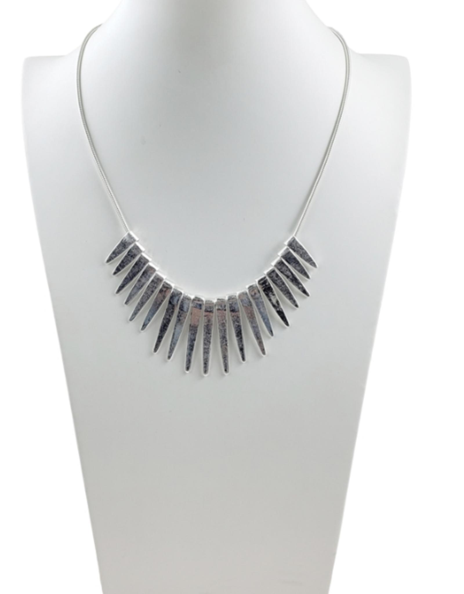 Sweet Lola Silver Spike Necklace