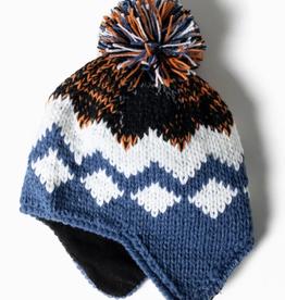 Look By M Fair Isle Earflap Hat