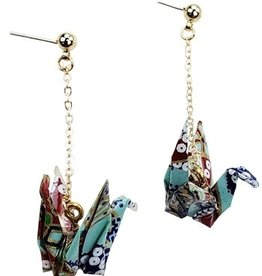 Sweet Lola Origami Paper Crane Earrings