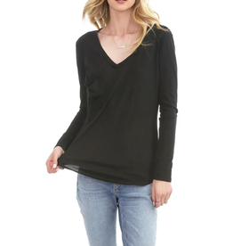 Bobi Long Sleeve Pocket Tee