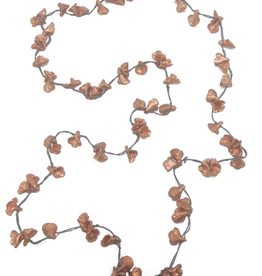 Sweet Lola Long Grey Calla Lilies Recycle Chain Necklace