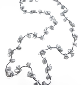 Sweet Lola Silver Calla Lilies Recycled Paper Necklace