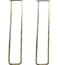 Sweet Lola Gold Rectangle Long Hoop