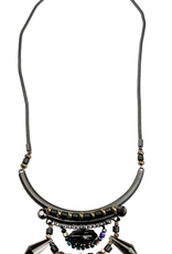 Sweet Lola Black Bead Drop Necklace