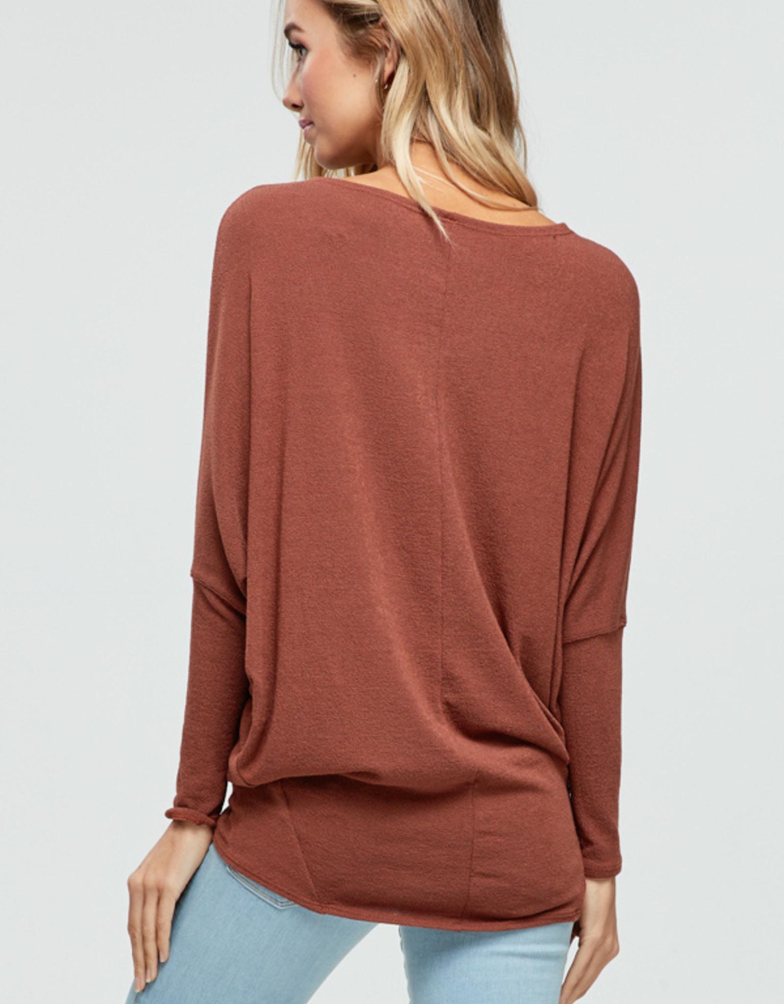 Jolie Off Shoulder Dolman Sleeve Tunic