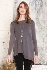 M Rena Asymmetrical Unbalanced Sweater