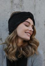 J Marcel Rolled Bow Knit Headband