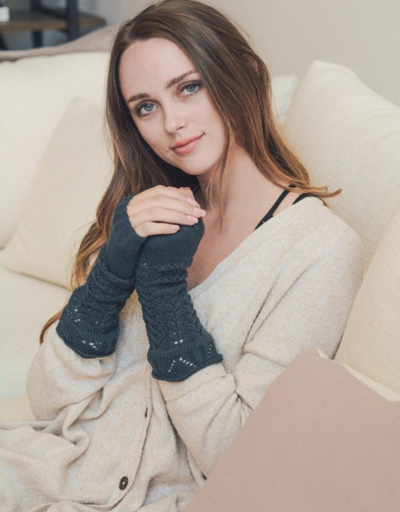 J Marcel Crochet Knit Arm Warmers