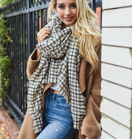 J Marcel Tattersall Plaid Blanket Scarf
