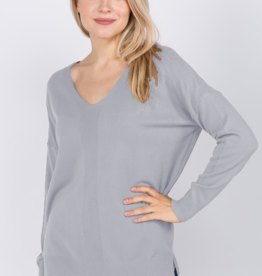Dreamers by Debut V Neck Sweater Rib Front