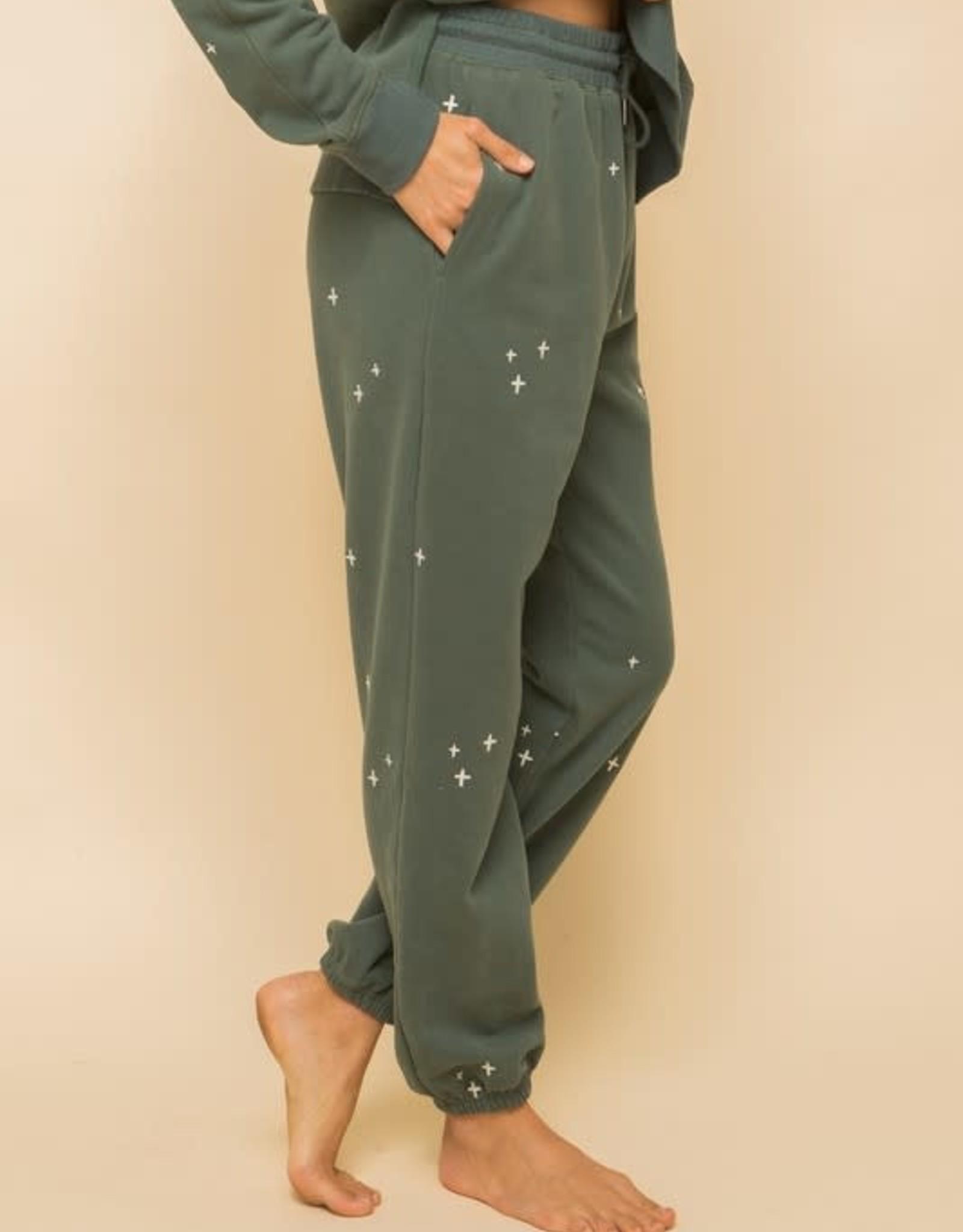 Hem & Thread Soft Embroidery Sweatpants