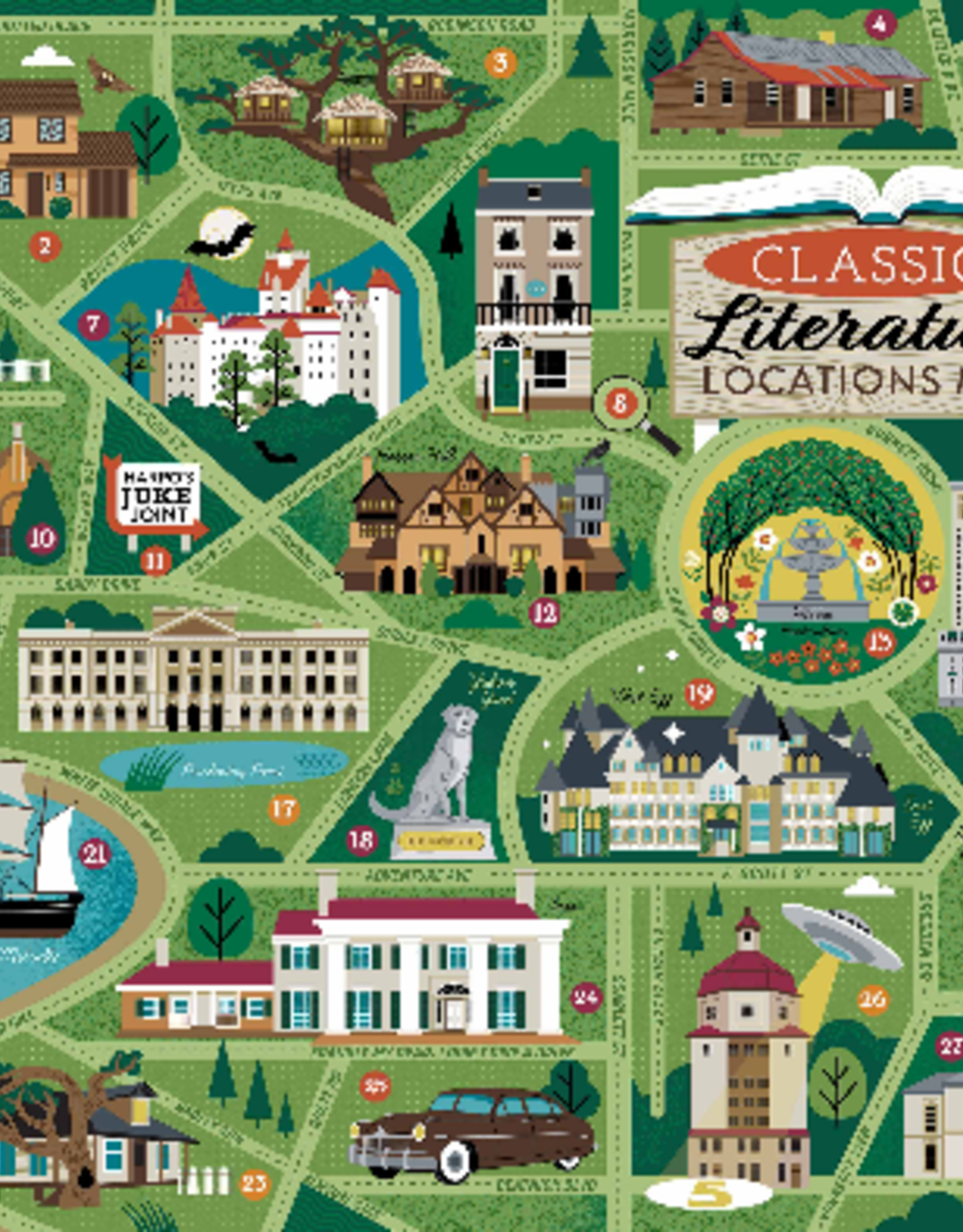 True South Puzzle True South Puzzle Classic Literary Locations