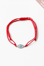 Blue Suede Jewels Evil Eye String Bracelet