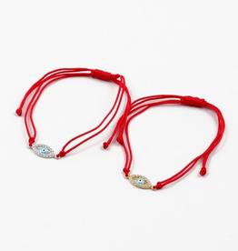 Blue Suede Jewels Evil Eye String Bracelet