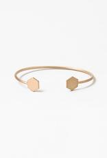 Blue Suede Jewels Hexagon Cuff Bracelet
