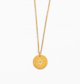 Blue Suede Jewels Starburst Necklace in Gold
