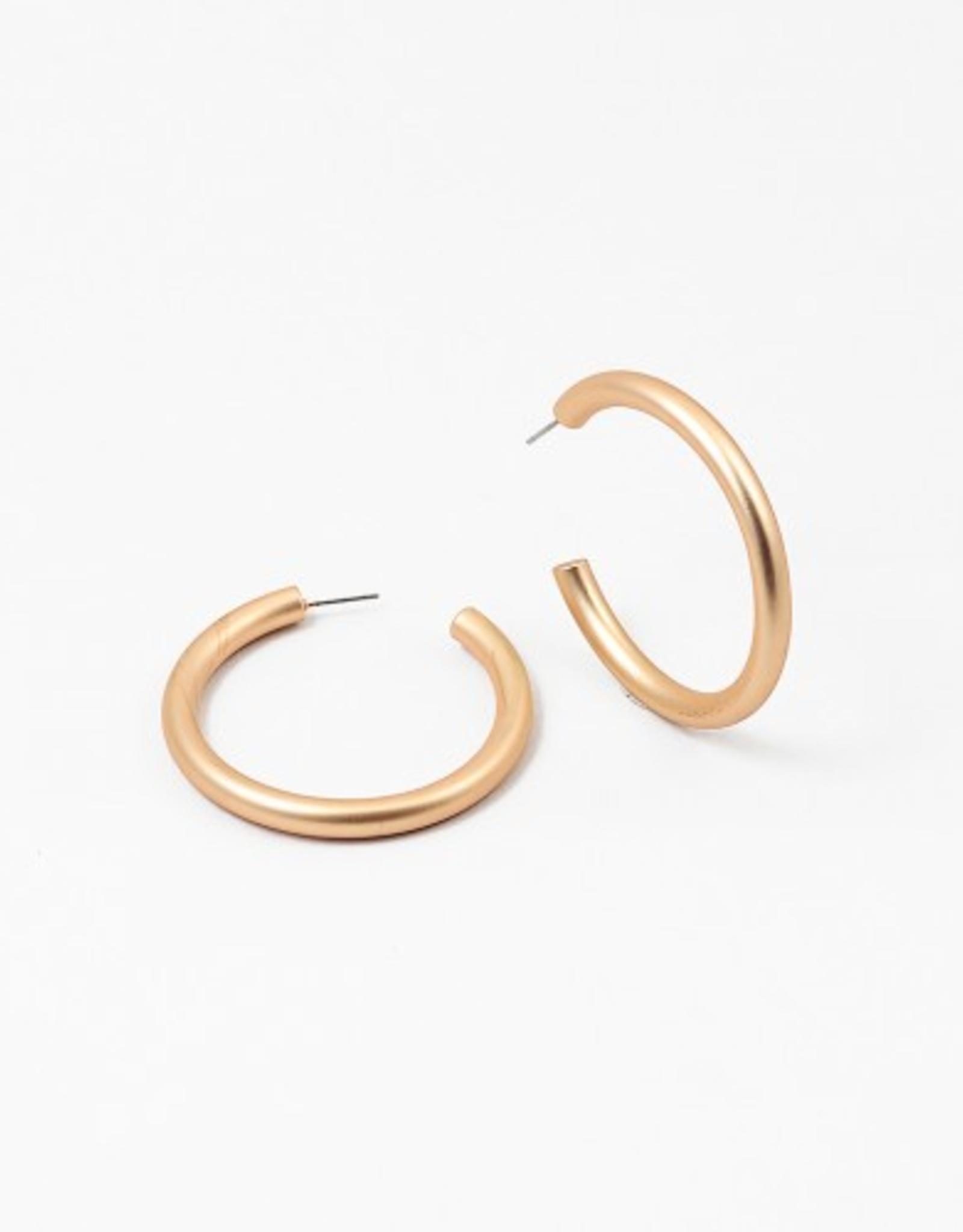 Blue Suede Jewels Matte Metal Hoop Earring