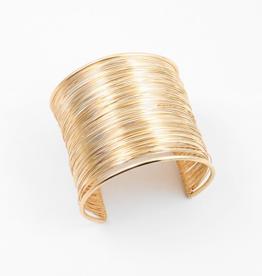 Blue Suede Jewels Gold Wire Cuff Bracelet