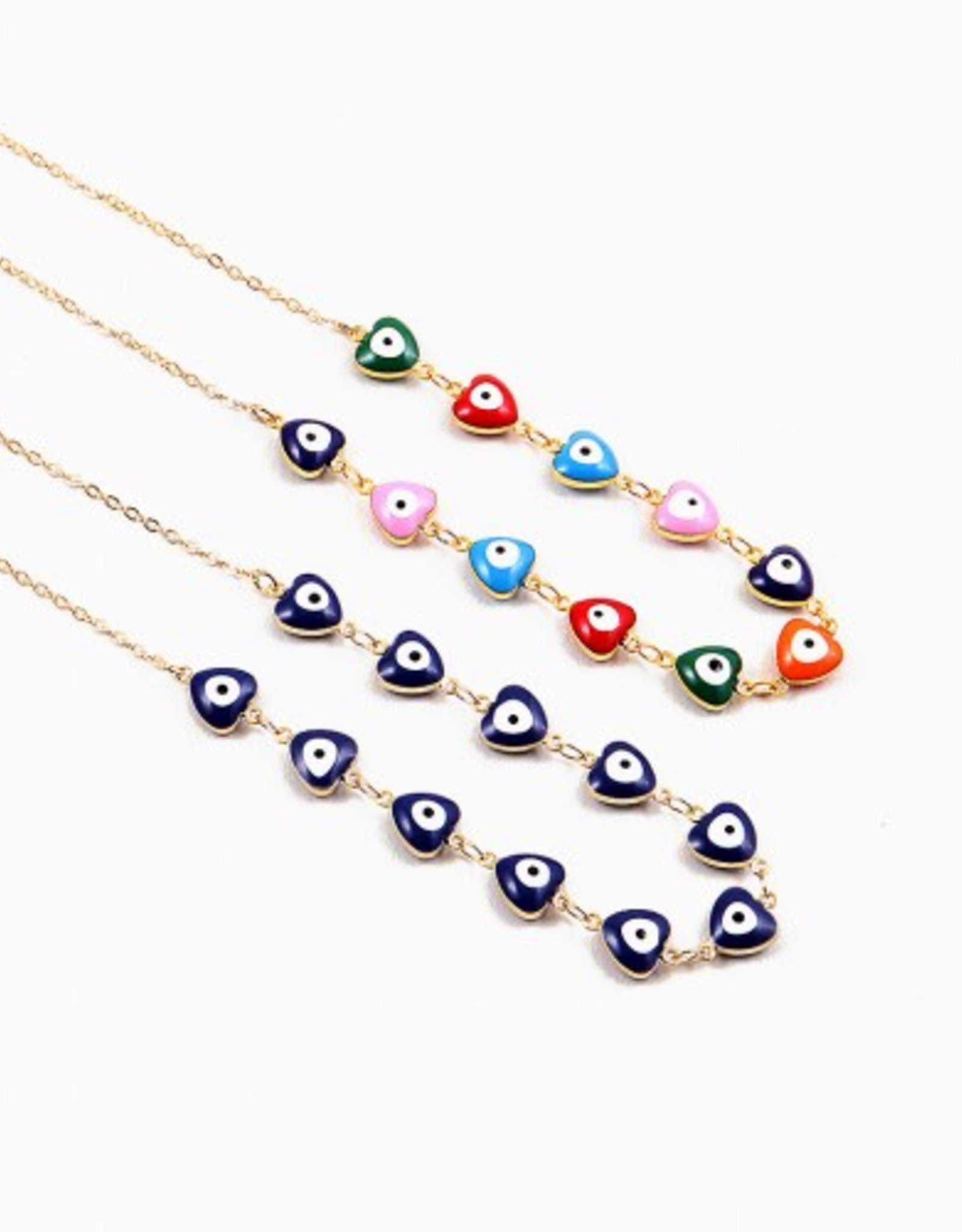 Blue Suede Jewels Evil Eye Necklace