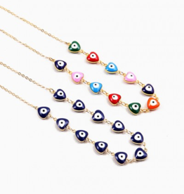 Blue Suede Jewels Evil Eye Necklace