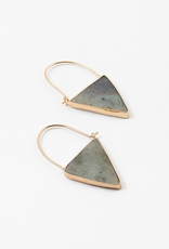 Blue Suede Jewels Gray Natural Stone Earring