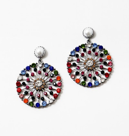 Blue Suede Jewels Rainbow Statement Earring